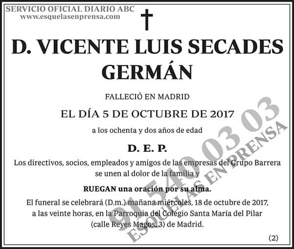 Vicente Luis Secades Germán